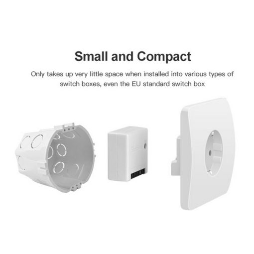 SONOFF Smart Διακόπτης SNF-MINI Two Way, 10A, WiFi, λευκός