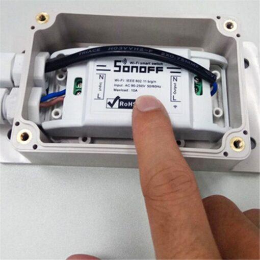 SONOFF Αδιάβροχη θήκη IP66 με σύνδεσμο, για διακόπτη SONOFF