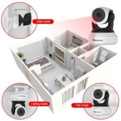 VSTARCAM Ρομποτική IP κάμερα IPP-007, Full HD, WiFi, microSD
